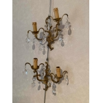 pair of gilt bronze