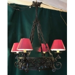 WROUGHT-IRON ART NOUVEAU CROWN CHANDELIER