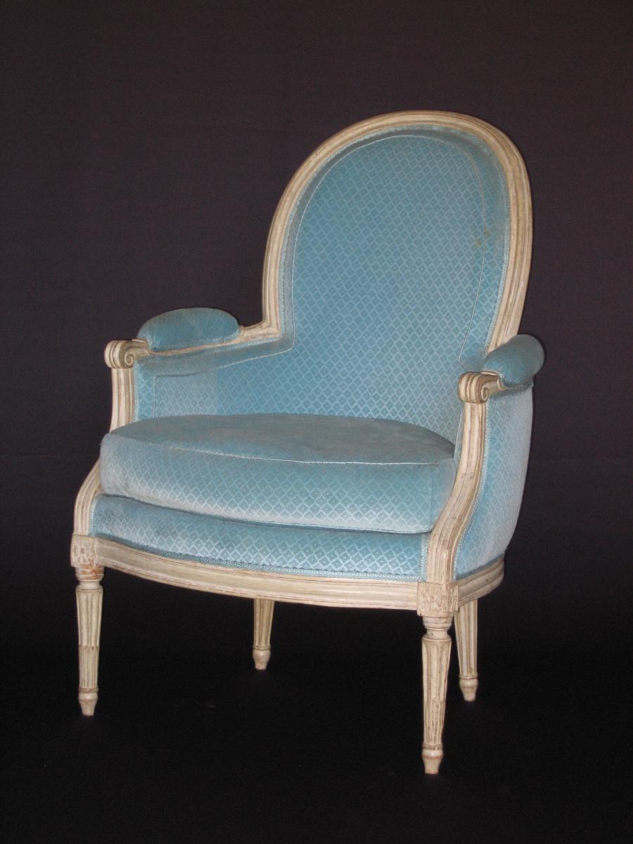 sessel louis xvi antiken in france. Black Bedroom Furniture Sets. Home Design Ideas