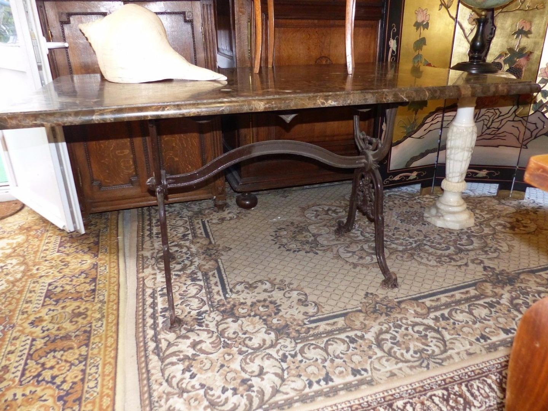 Salon de jardin en fer forgé table 4 chaises année 80 | Antiquités...
