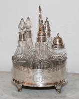 ENGLISH OIL AND CRUET STAND