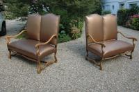 Pair of Mutton leg  style Louis XIII armchairs