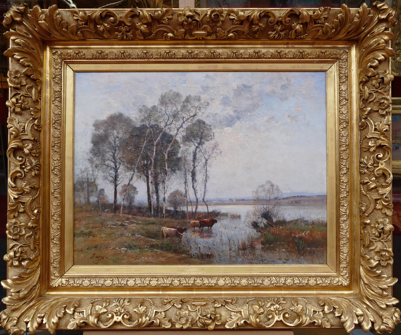 JAPY Louis Aimé French School Painting 19Th Century Barbizon school Oil On Canvas Signed