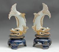 PAIR OF CHINESE PORCELAIN DRAGONS