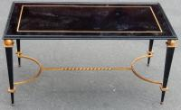 1950 'Coffee Table Iron Painted and Gilded Gold In The Style of G Poillerat