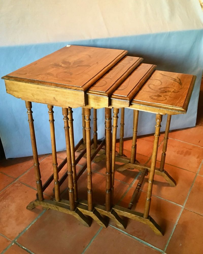 ART NOUVEAU PERIOD NESTING TABLES