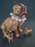 19TH C SAXE PORCELAIN DOGS