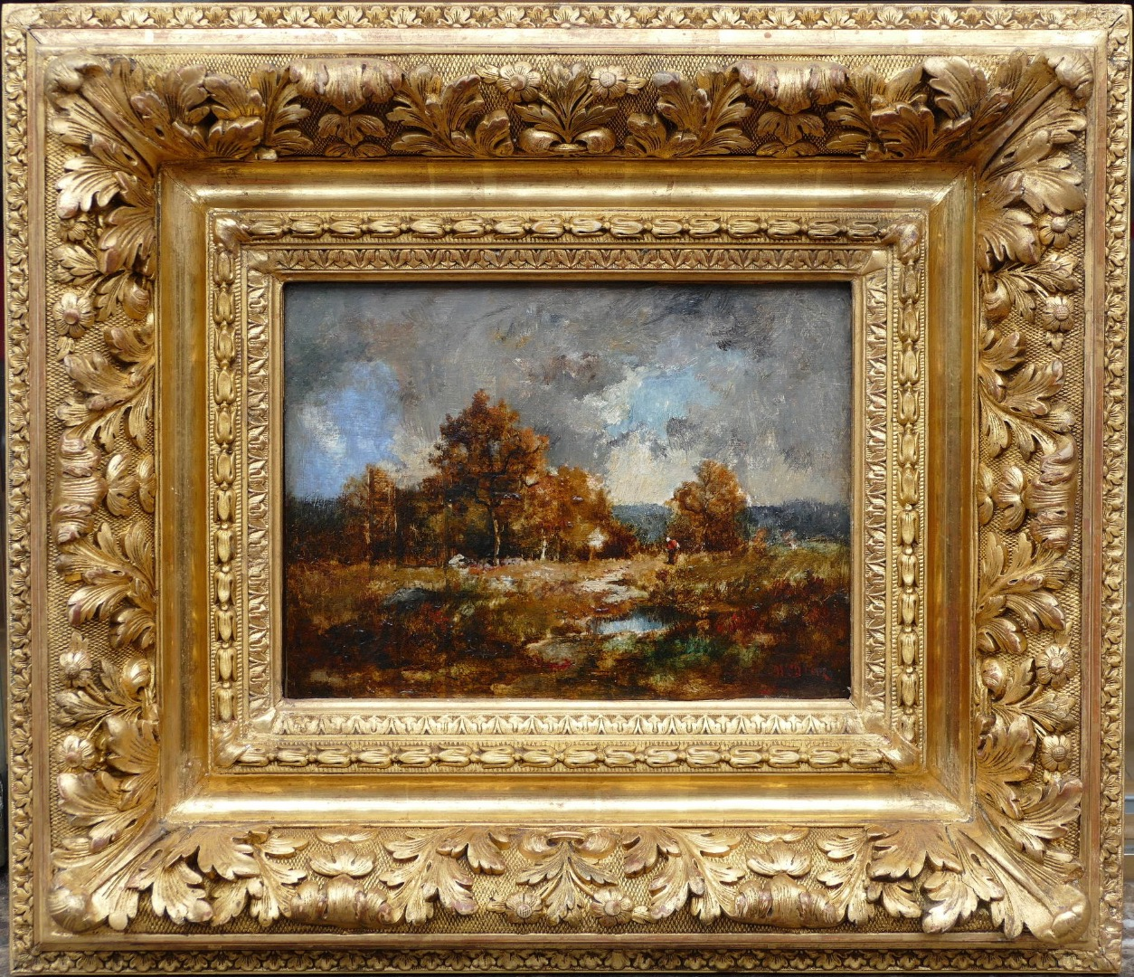 Diaz De La Pena Narcisse French Painting XIXth Century Oil On Panel Signed Barbizon School