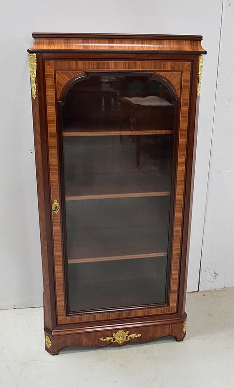 FRENCH TRANSITION STYLE DISPLAY CABINET