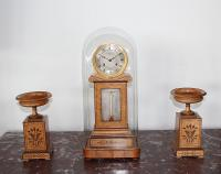 CHARLES X PERIOD CLOCK AND CASSOLETTES