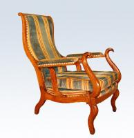 FRENCH RESTAURATION PERIOD INCLINING ARMCHAIR
