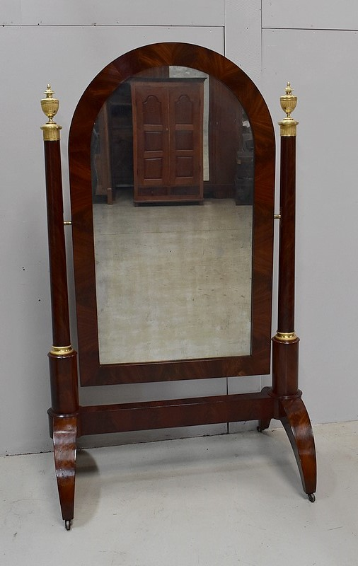 FRENCH EMPIRE PERIOD CHEVAL MIRROR