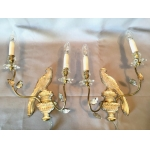 "BAGUES PAIR OF ""PARROT"" WALL LIGHTS"