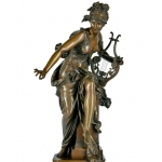 "Albert Ernest CARRIER-BELLEUSE sculpture en Bronze XIXe ""Harmonie"""